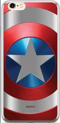 CASE CHROME MARVEL CAPTAIN AMERICA 025 IPHONE X / XS SILVER