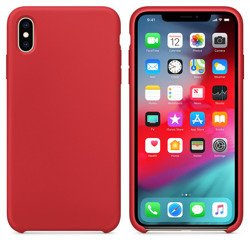 CASE SILICONE IPHONE XS MAX RED