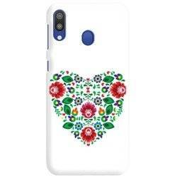 FUNNY CASE OVERPRINT FLOWERS HEART SAMSUNG GALAXY M10