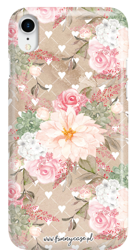 FUNNY CASE ROSES AND HEARTS OVERPRINT IPHONE XR