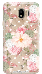 FUNNY CASE ROSES AND HEARTS OVERPRINT SAMSUNG GALAXY J4 2018