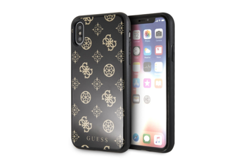 GUESS HARD CASE PEONY G DOUBLE LAYER GLITTER GUHCPXTGGPBK IPHONE X / XS BLACK