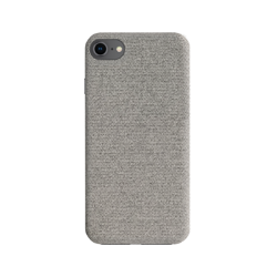 XQISIT Cloth Case for IPhone 6/6s/7/8/SE 2G grey