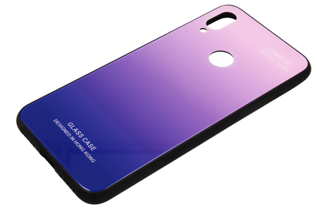 Case HUAWEI HONOR 9X Glass Case Gradient blue and pink