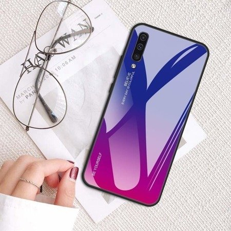 Case HUAWEI Y5 2019 Glass Case Gradient blue-pink