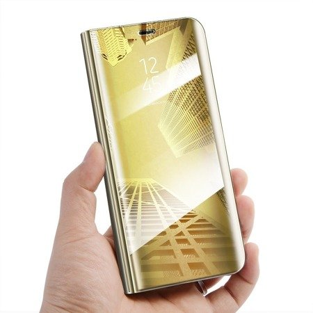 Clear View Cover case SAMSUNG GALAXY A9 2018 gold
