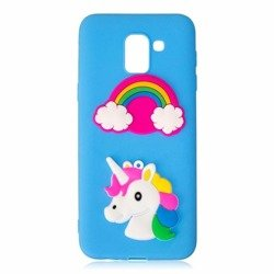 Etui 3D Samsung J6 2018 Unicorn and rainbow