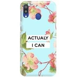 FUNNY CASE ETUI NADRUK ACTUALY I CAN SAMSUNG GALAXY M10