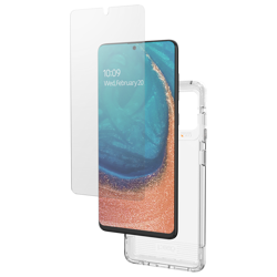 GEAR4 Case D3O with IS Glass for Galaxy A71 clear