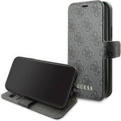 GUESS BOOK CASE 4G CHARMS COLLECTION GUFLBKI65GF4GGR IPHONE XS MAX SZARY