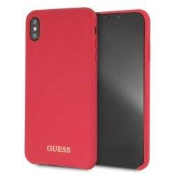 GUESS HARD CASE SILICONE GUHCI65LSGLRE IPHONE XS MAX CZERWONY