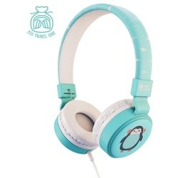 Planet Buddies Penguin Wired Kid's Headphone blue
