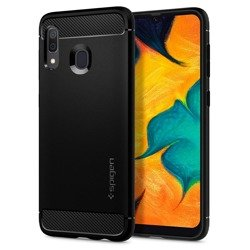 Spigen Rugged Armor for Galaxy A30  matt black