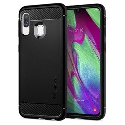 Spigen Rugged Armor for Galaxy A40 matt black