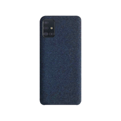 XQISIT Cloth Case for Galaxy A51 Navy Blue