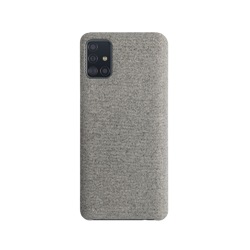 XQISIT Cloth Case for Galaxy A51 grey