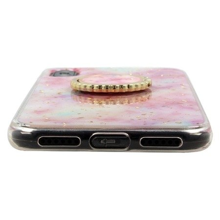Etui SAMSUNG GALAXY S10+ PLUS Marble Ring turkusowe